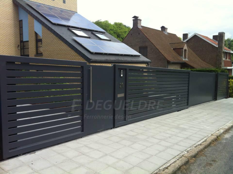 grille-portillon-portail-contemporaine-metallique-barriere-metal ...