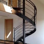 Escalier tournant métallique