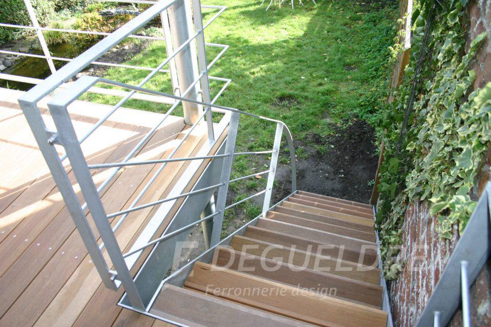 de style metal metallique escalier decoration design inox acier deco degueldre ferronnerie d