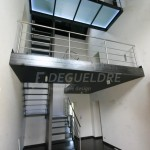 Escalier acier métallique