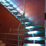 Escalier métallique inox design