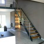 Escalier métallique inox