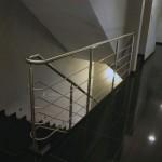 Garde-corps inox escalier