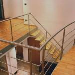 Escalier droit bois