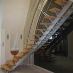Escalier tournant bois