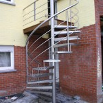 Escalier tournant extérieur